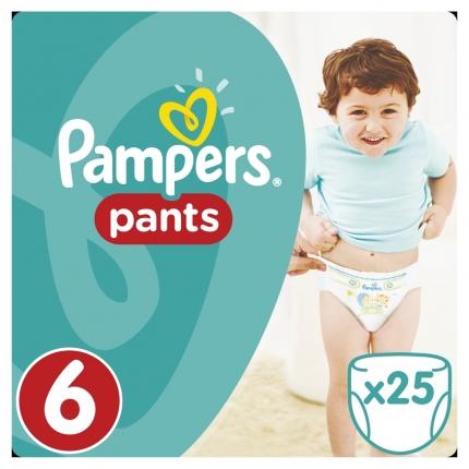 Pampers Pants Μέγεθος 6 (Extra Large) 16+kg, 25 Πάνες-βρακάκι