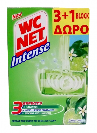 NET WC INTENSE BLOCK LIME FRESH 3+1 (4x34gr)